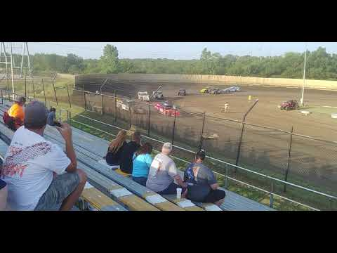 Creek County Speedway USRA Modifieds heat 2 7/21/19