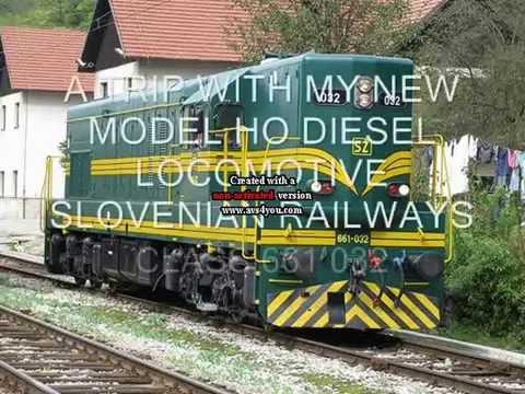 My model Of Diesel Loco SZ  Class 661 032