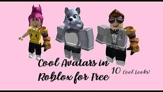 ROBLOX |10 COOL AVATAR LOOKS , WITHOUT ROBUX ♥