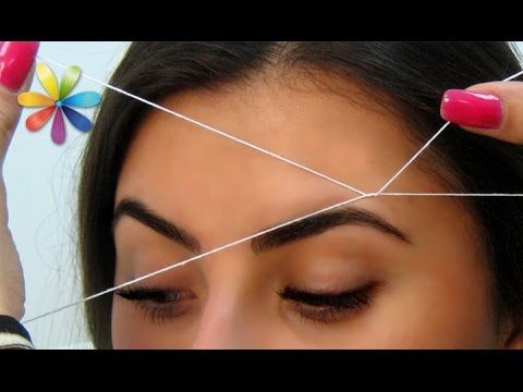Как удалять волосы с помощью нитки
