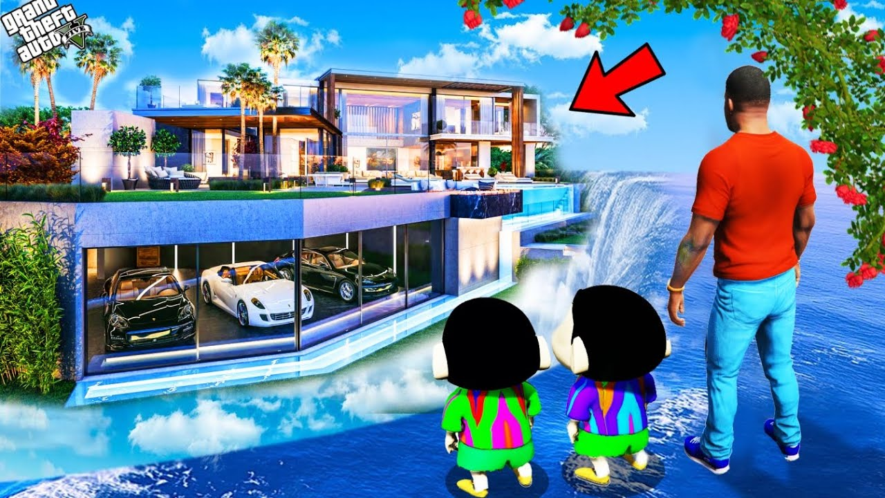 Download GTA 5 : Franklin Buy Luxury Water House To Surprise Shinchan And Pinchan in GTA 5 ! (GTA 5 mods)