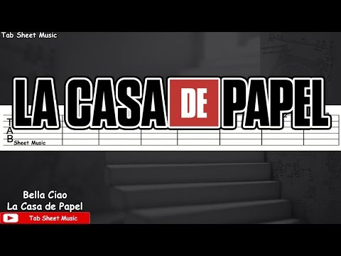 La Casa de Papel (Money Heist) - Bella Ciao Guitar Tutorial