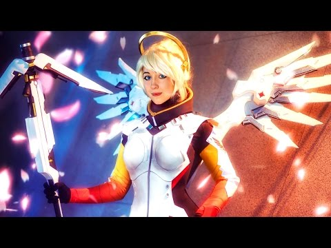 Overwatch com Mercy: Multiplayer Online no Xbox One