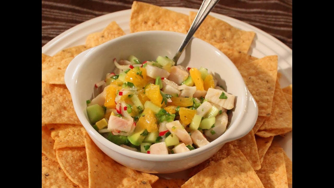 Mahi Mahi Ceviche Recipe - Marinated Fish Salad - Great for Summer!