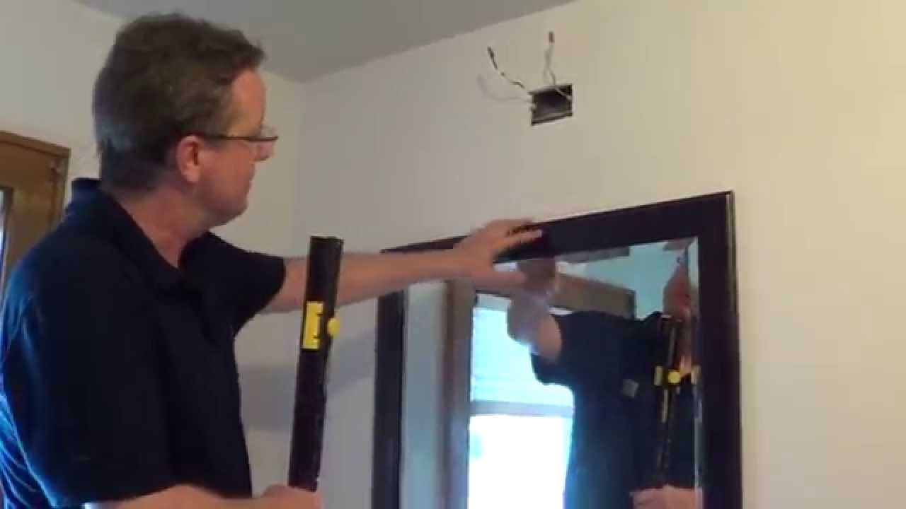 How To Hang A Heavy Mirror Mirror Hanging Tool Youtube