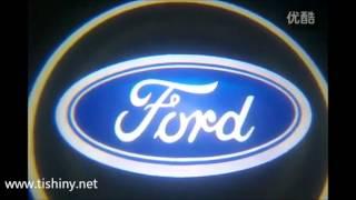 Лазерная подсветка с логотипом в двери Ford Focus 2014