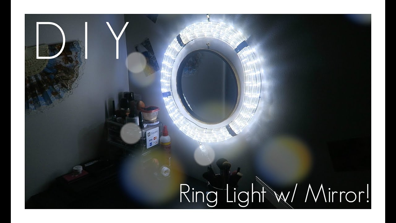 Diy Ring Light With Mirror Youtube