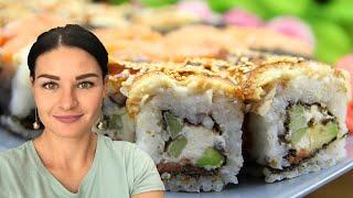 Готовлю ГОРУ РОЛЛОВ ДОМА / как приготовить суши роллы в домашних условиях пошагово