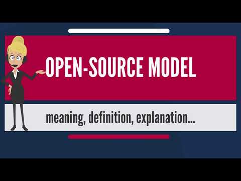 What is OPEN-SOURCE MODEL? What does OPEN-SOURCE MODEL mean? OPEN-SOURCE MODEL meaning