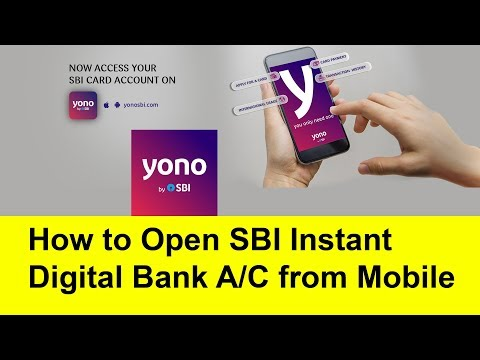 How to Open SBI Instant Digital bank account from mobile | Tamil Banking