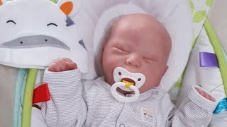 Highend Baby Clothes | Changing Reborn baby Charlie | UK Sleepsuits Haul |  Nursery Tour |  WIP