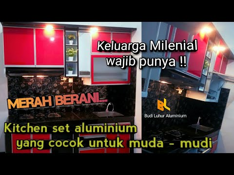 Warna Yang Pas Kitchen Set Aluminium Kombinasi Acp Youtube