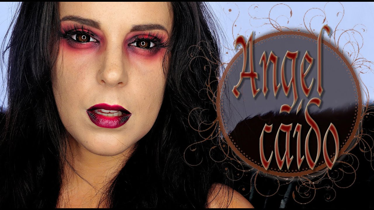 Tutorial Maquillaje Halloween Ángel Caído Makeup FX #64 ...