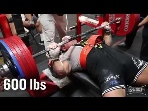 Mark Bell Tears Pec with a 600 lb Bench Press