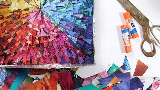 Art Tutorial: Thick, Multi-layered Resin Collage DIY