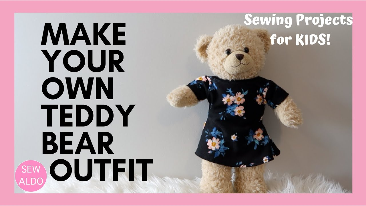 Sewing Pattern for build a bear  teddy bear clothes dress and jacket