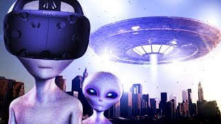 DESTROY CITIES AS A MASSIVE UFO in VR! - Day of Destruction Gameplay - VR HTC Vive