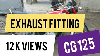 Exhaust Fitting | Sound Test | Honda CG 125 WALKAROUND