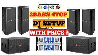 2 bass 4 top dj setup with price