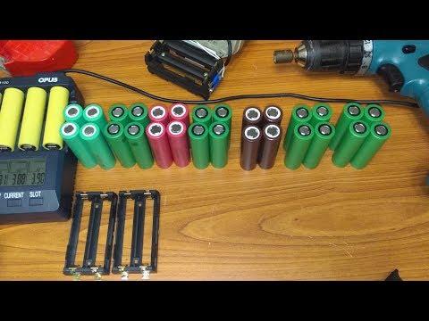 Тест оригинальных высокотоковых аккумуляторов для переделки шуруповертов