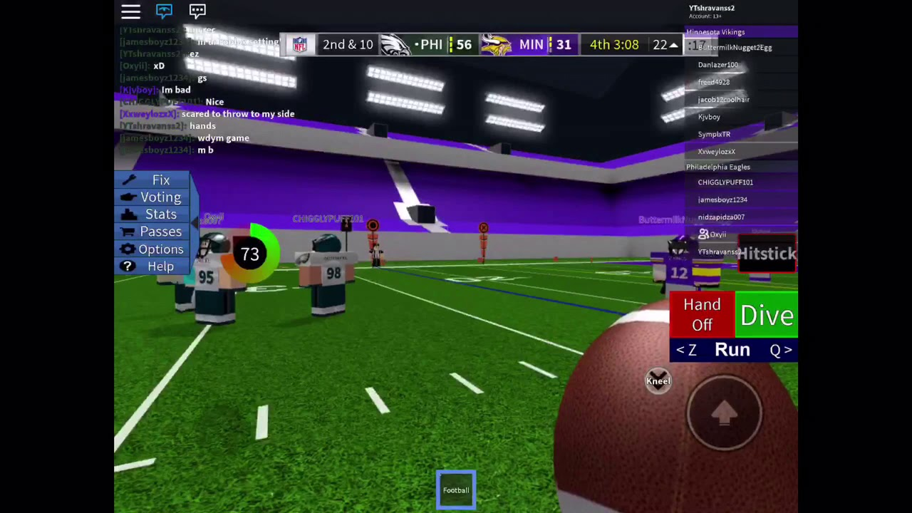 Roblox Football Stars Tutorial How To Qb In Legendary Football On Mobile Roblox Youtube