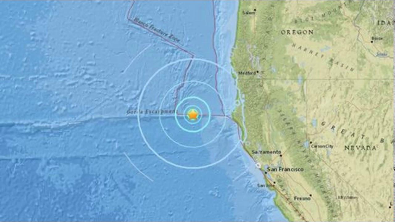 Magnitude 5.7 earthquake strikes off Northern California coast