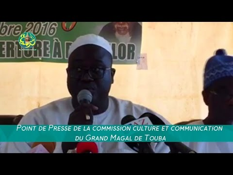 Point de Presse de la commission culture et communication du Grand Magal de Touba