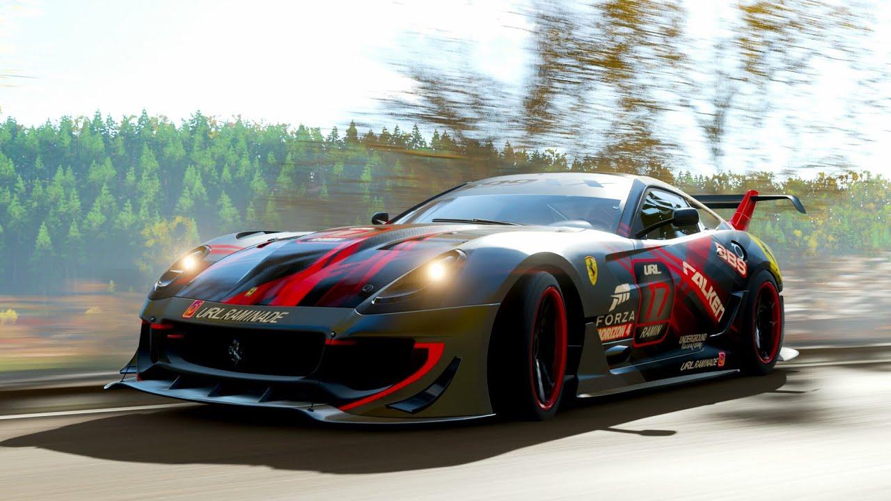 Forza Horizon 4 Ferrari 599xx Evolution Build Tune Gameplay Youtube