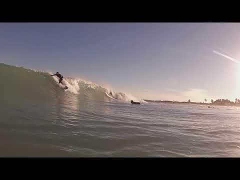 Surfing South Beach Florida 1-4-18