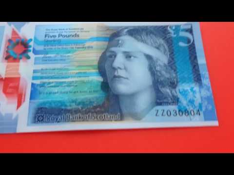 Royal Bank of Scotland New plastic £5