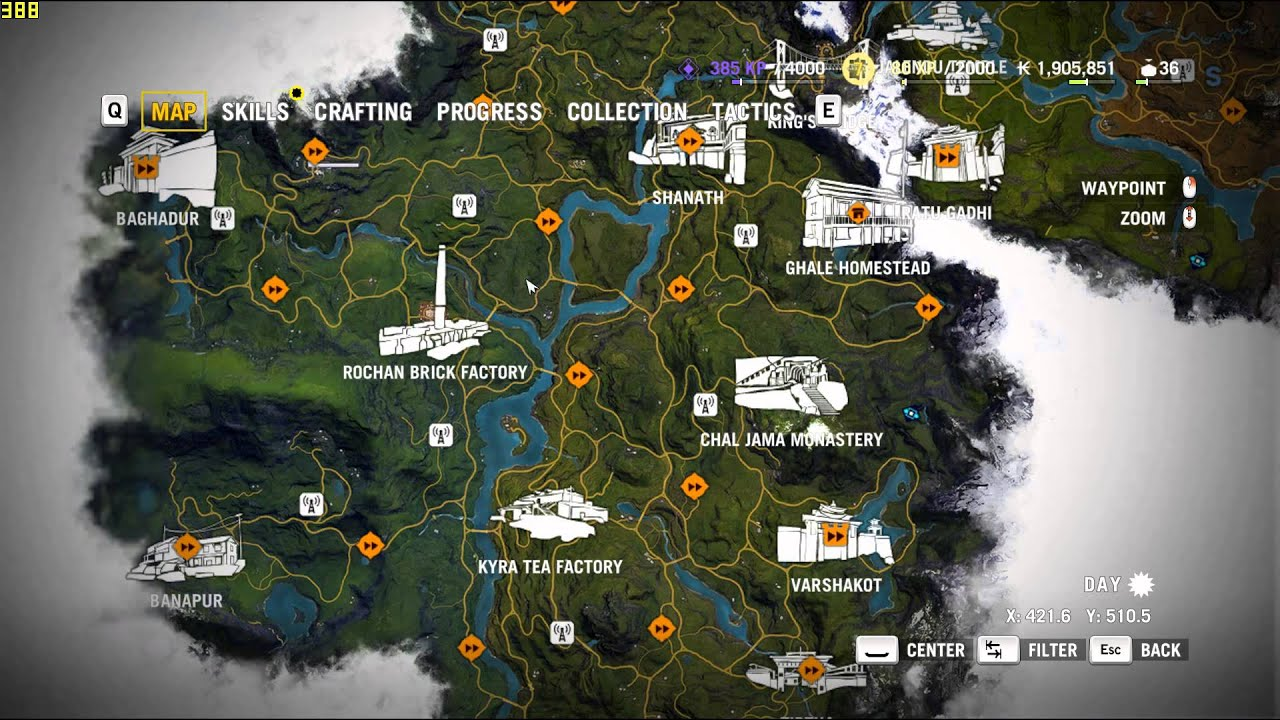 Far Cry 4 Map Size, Map Of Kyrat