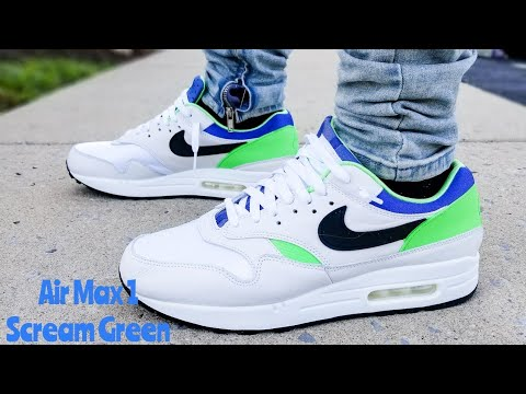 Air Max 1 Scream Green DNA CH.1 Unboxing & On Feet