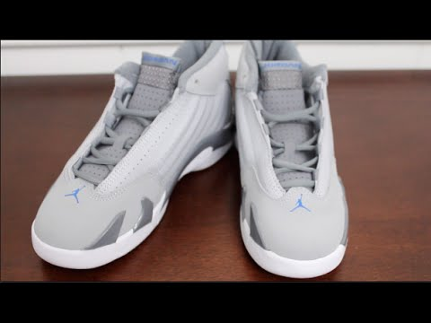 Kid Kicks Air Jordan Retro 14 Basketball Shoe On Feet Sneaker Review