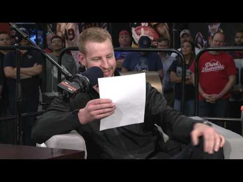 Carson Wentz reads his draft profile (2/2/17)