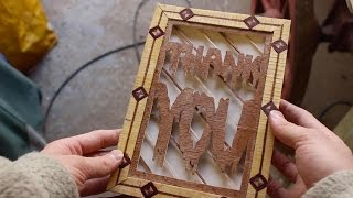 How To Make A Wooden Card!