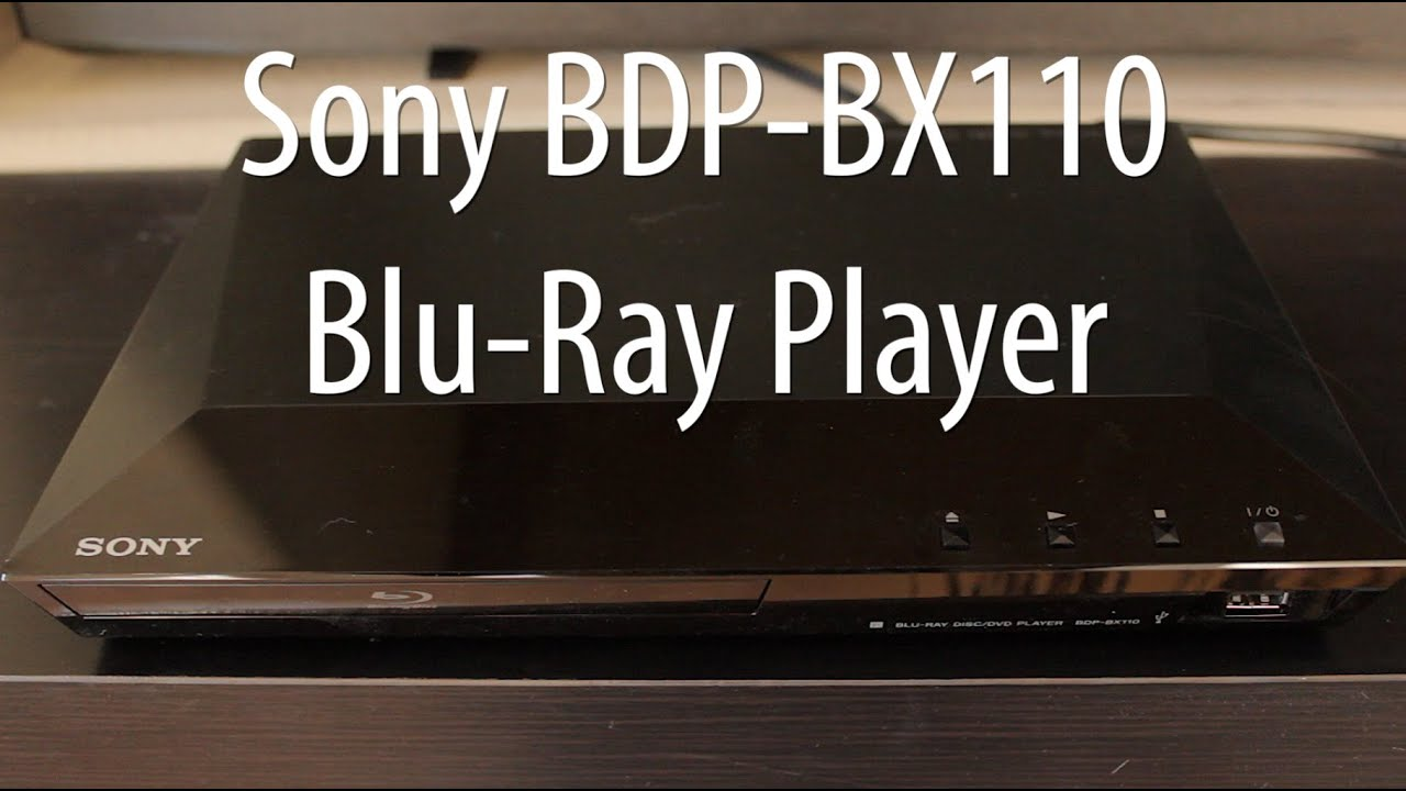 SONY BDP-BX110 BLU-RAY DISC PLAYER 64BIT DRIVER