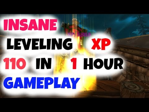 INSANE Leveling XP from 100 to 110 in 30 Minutes Gameplay per day for 5 days Patch 7.3