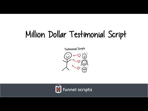 Million Dollar Testimonial Script - FunnelScripts.com