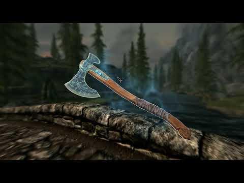 Мод добавляет в Skyrim топор Левиафан из God of War