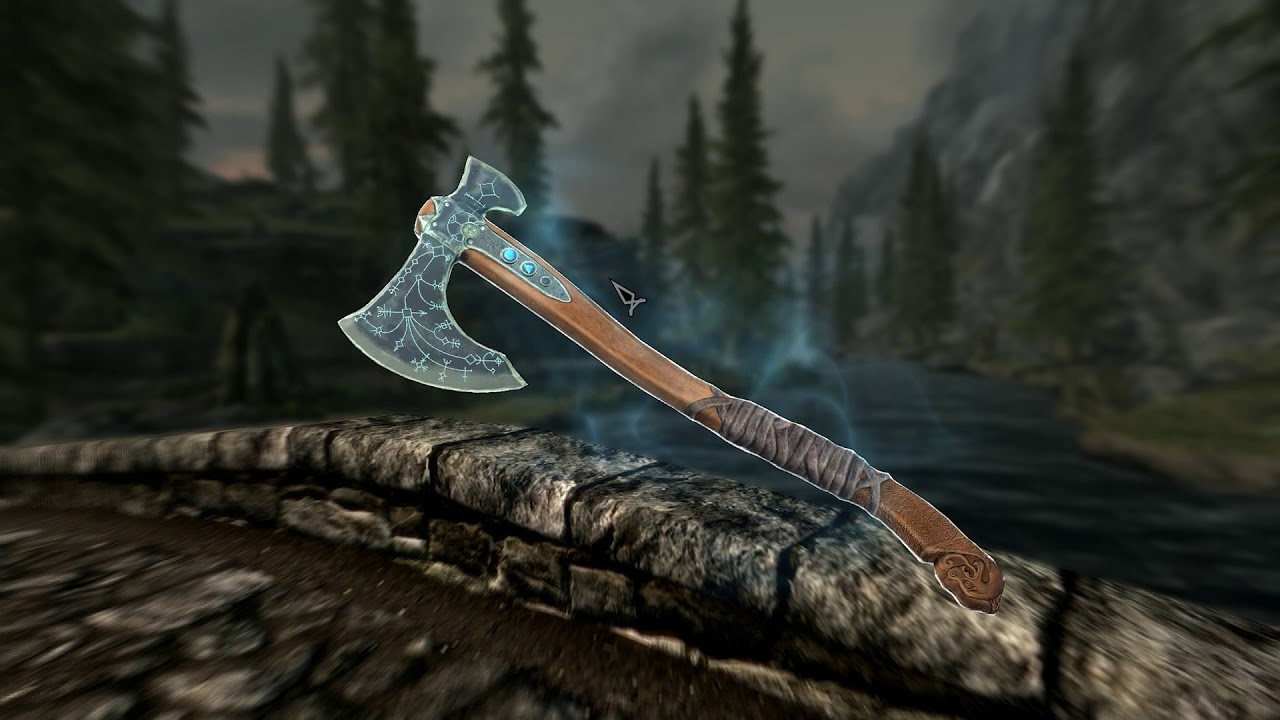 Skyrim Mod adds God of War Leviathan Axe and it is Beautiful | Gamebyte