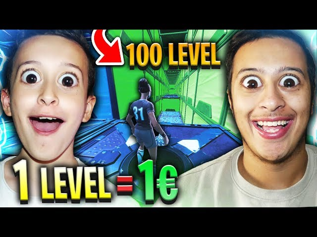 1 LEVEL = 1€ SUR CE DEATHRUN À 100 LEVEL SUR FORTNITE CREATIF !