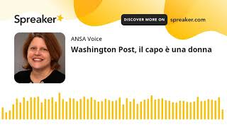 Washington Post, il capo è una donna