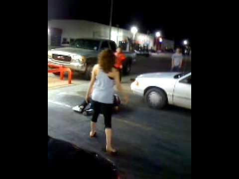Odessa Texas Street Fight.  Real Classy!!
