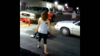 Odessa Texas Street Fight.  Real Classy!!
