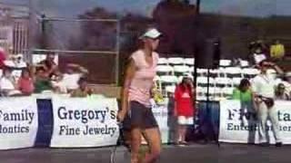 Maria Sharapova imitates Andy Roddick