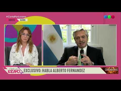Alberto Fernández en Cortá por Lozano