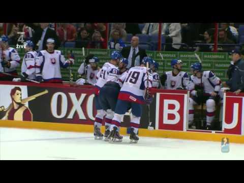 Ryan Getzlaf knee-on-knee hit on Juraj Mikus & Michal Handzus GW PP goal - CAN vs SVK WHC 2012