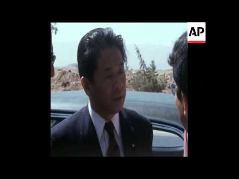 SYND 24-8-73 JAPANESE TRADE DELEGATION MEETING SYRIAN DELEGATES IN DAMASCUS