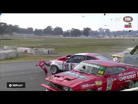 Verry Big Start crash Race 2    Touring Car Masters   Winton 2017