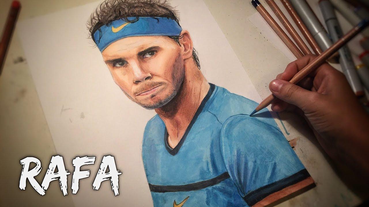 Rafa Epic Drawing Of Rafael Nadal Youtube